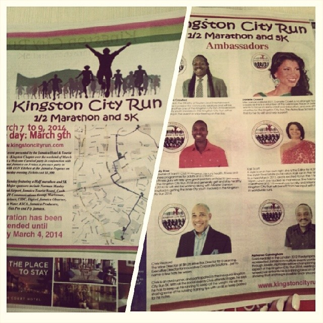 In case you missed our 4 page feature in yesterday's @jamaicaobserver,  here's a sneak peek. Remember registration closes tomorrow,  March 4th! #kgncityrun #kcr4homeless @daniellecrosskill @damioncrawford @kailiscott @trainfitclub @chrisreckord